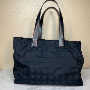 Chanel Nylon Travel Tote Black Authentic